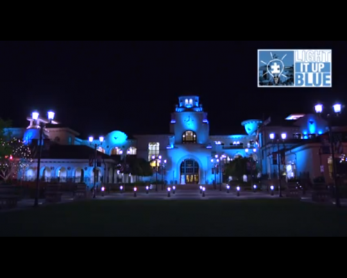 Temecula Lit Up In Blue