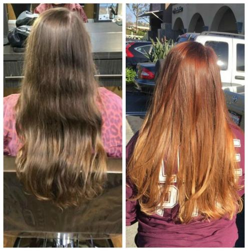 Beautiful copper color melt done by Aleta!