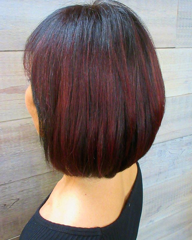 We are loving this mulled wine color for fall!_____________________________#instahair #instabeauty #atthesalon #salonlife #hair #hairspiration #hairsalon #haircolor #hairstyles #hairstyling #haircut #carlsbad #sandiego #sandiegohair #carlsbadhair #aveda #avedacolor #avedaproducts #avedaartist #smellslikeaveda #avedacolor