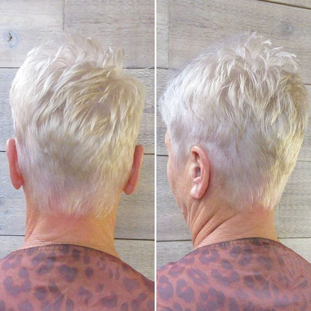 Fresh and frosty for the holidays! ______________________________________#instahair #instabeauty #atthesalon #salonlife #hair #hairspiration #hairsalon #haircolor #hairstyles #hairstyling #haircut #carlsbad #sandiego #sandiegohair #carlsbadhair #aveda #avedacolor #avedaproducts #avedaartist #smellslikeaveda #hairgoals #pixiecut #colorharmony