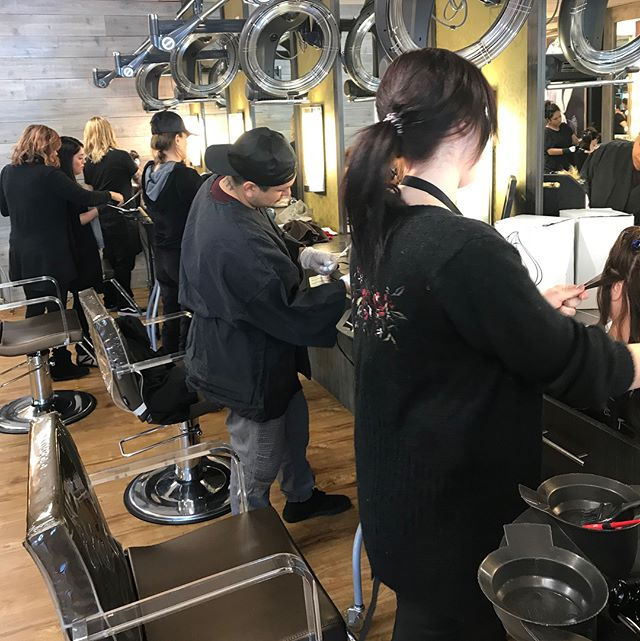Our team of stylists have been working together to create and perfect a new technique that will brighten up your color for spring! _________________________________#instahair #instabeauty #atthesalon #salonlife #hair #hairspiration #hairsalon #haircolor #hairstyles #hairstyling #haircut #carlsbad #sandiego #sandiegohair #carlsbadhair #aveda #avedacolor #avedaproducts #avedaartist #smellslikeaveda #extendededucation