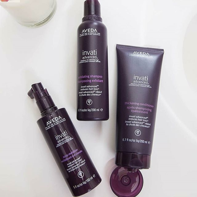 NEW #Invati Advanced is just three steps for real, proven results. We know you already use shampoo and conditioner, and the Scalp Revitalizer is like a serum in a skin care regimen -but for your scalp!_________________________________#instahair #instabeauty #atthesalon #salonlife #hair #hairspiration #hairsalon #haircolor #hairstyles #hairstyling #haircut #carlsbad #sandiego #sandiegohair #carlsbadhair #aveda #avedacolor #avedaproducts #avedaartist #smellslikeaveda #blonde #highlights #avedademiplus #avedafullspectrum #haircare #hairroutine #invatiadvanced #hairloss