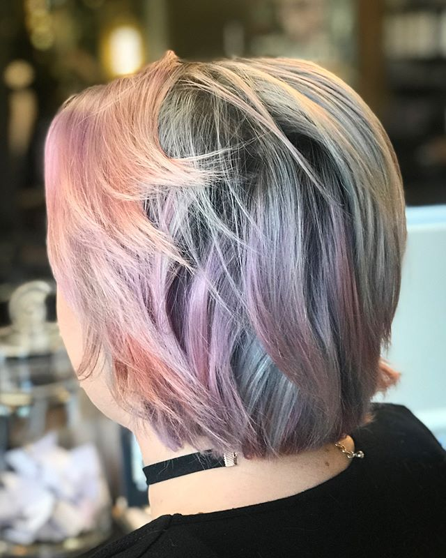 ️ Opalescent ️______________________#instahair #instabeauty #atthesalon #salonlife #hair #hairspiration #hairsalon #haircolor #hairstyles #hairstyling #haircut #carlsbad #sandiego #sandiegohair #carlsbadhair #aveda #avedacolor #avedaproducts #avedaartist #smellslikeaveda #highlights #avedademiplus #avedafantasycolor #michaelianblack #jonraymond #avedaglobalartist #opalhair #opal #fantasycolor