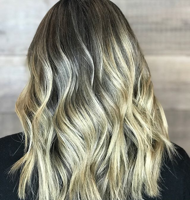 Reverse balayage for a soft blend.