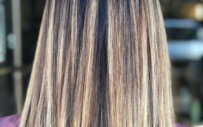 """We're obsessed with this dimensional highlight, perfectly paired with the most popular haircut for spring- the long bob, better known as the """"lob."""""""
