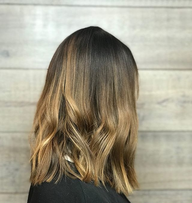 Soft transition with Aveda Full Spectrum and Demi + on this lady! Styled with a flat iron, Phomollient, Shampure Dry Conditioner and Air Control.