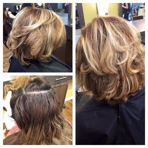 Incredible before and after hair by Blyss!