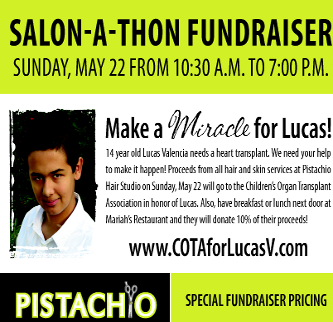Pistachio Contributes to Local Charity Event For Lucas' Heart Transplant