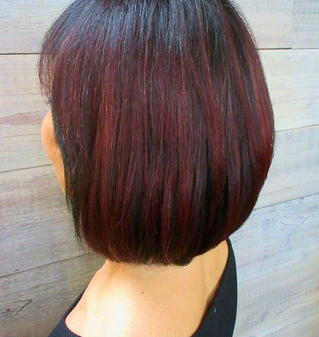 We are loving this mulled wine color for fall!