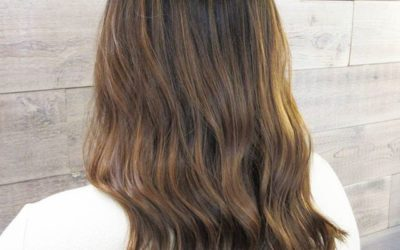 This subtle hint of balayage is the perfect way to brighten up a beautiful brunette #AvedaColor!