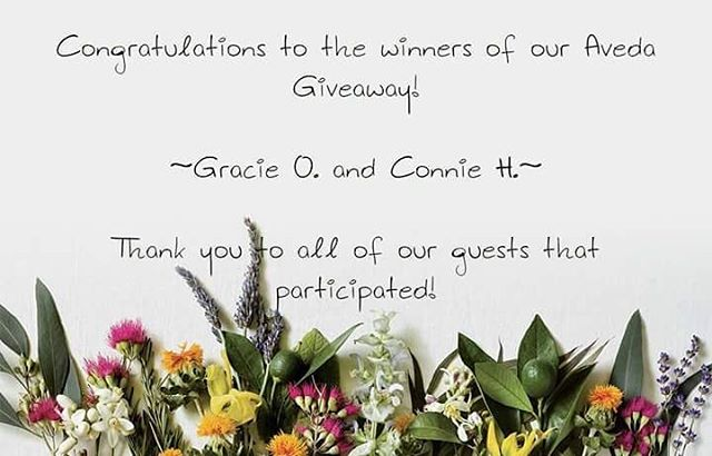 Congratulations to Gracie and Connie! Be sure to like Pistachio Cut & Color Bar on Facebook for more exclusive specials, contests, and events!