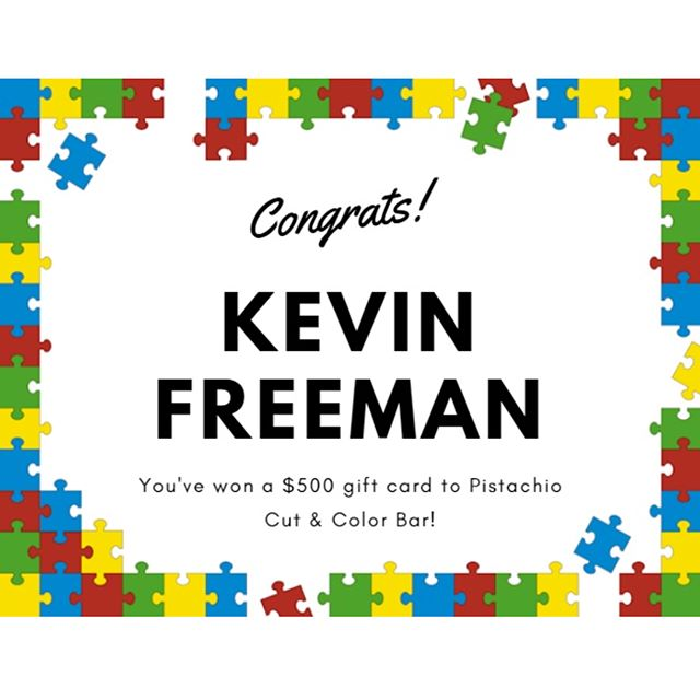 Congratulations to Kevin Freeman, the winner of our annual Autism Raffle! We appreciate Amy Munera, President of @autismsocietysandiego and her sons for helping us pick this year's winner. Thanks to everyone who participated and helped make this raffle a success!_____________________#hair #hairspiration #hairsalon #haircolor #hairstyles #hairstyling #haircut #carlsbad #sandiego #sandiegohair #carlsbadhair #aveda #avedacolor #avedaproducts #avedaartist #smellslikeaveda #avedaraffle #avedagiveaway #autismawareness #autismsupport #autism #autismraffle #communitysupport #plazapaseoreal #autismapril #autismfundraiser #autismsocietyofsandiego #austismsociety