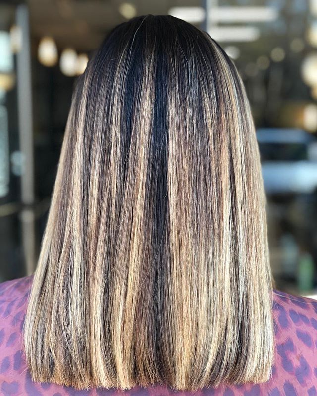 """We're obsessed with this dimensional highlight, perfectly paired with the most popular haircut for spring- the long bob, better known as the """"lob.""""_____________________#hair #hairspiration #hairsalon #haircolor #hairstyles #hairstyling #haircut #carlsbad #sandiego #sandiegohair #carlsbadhair #aveda #avedacolor #avedaproducts #avedaartist #smellslikeaveda #avedaraffle #avedagiveaway #autismawareness #autismsupport #autism #demiplus #communitysupport #plazapaseoreal #dimension #highlights #lob #longbob"""