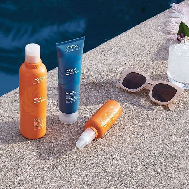 The downside of summer fun? It can wreak havoc on your hair! Protect it against salt, sun and chlorine damage with our Sun Care line for UV defense and recovery — no beach bag or pool day is complete without it!