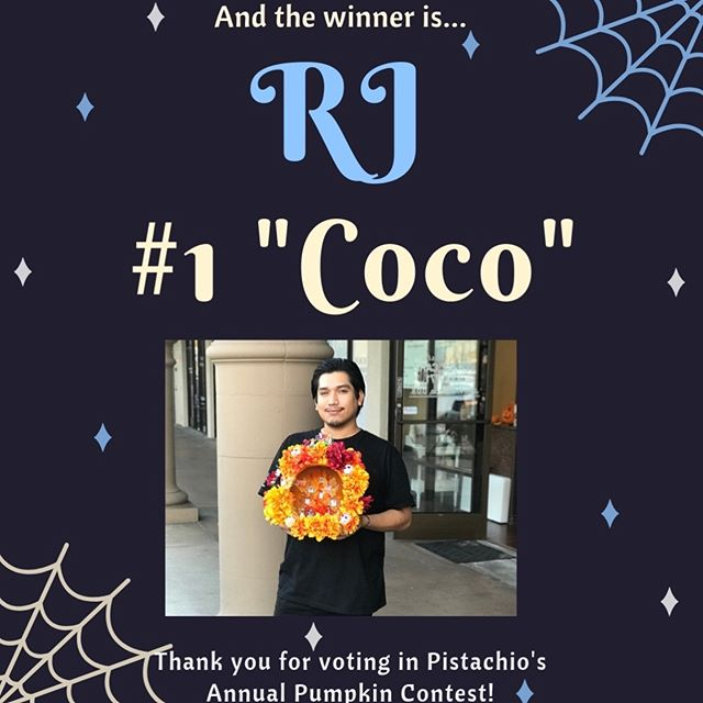 Congratulations to RJ, the winner of our Annual Pumpkin Contest! Over 300 votes were cast, thank you to all who participated! ___________________________#instahair #instabeauty #atthesalon #salonlife #hair #hairspiration #hairsalon #haircolor #hairstyles #hairstyling #haircut #carlsbad #sandiego #sandiegohair #carlsbadhair #aveda #avedacolor #avedaproducts #avedaartist #smellslikeaveda #crueltyfree #botanicals #knowwhatyouremadeof #plazapaseoreal#disney #cocothemovie #coco #Halloween #pumpkin