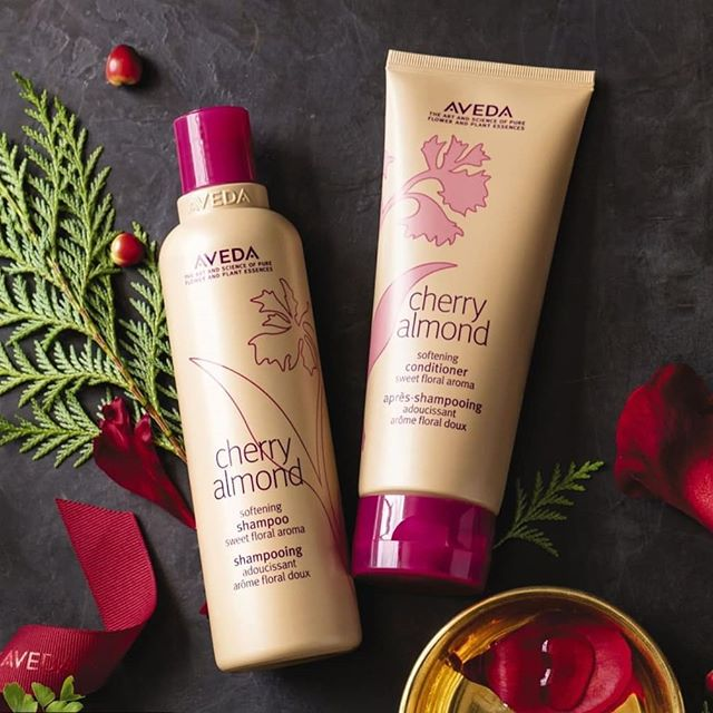 Treat your sweet tooth to #CherryAlmond Softening Shampoo and Conditioner this holiday. It's one of our bestsellers and once you try it, you'll see why. ___________________________ #instahair #instabeauty #atthesalon #salonlife #hair #hairspiration #hairsalon #haircolor #hairstyles #hairstyling #haircut #carlsbad #sandiego #sandiegohair #carlsbadhair #aveda #avedacolor #avedaproducts #avedaartist #smellslikeaveda #crueltyfree #botanicals #knowwhatyouremadeof #plazapaseoreal #GiveAveda #AvedaMission #GiveAveda#Repost @aveda (@get_repost)