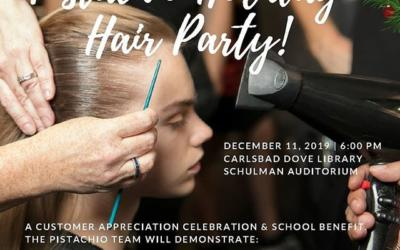 Have you reserved your seat for tomorrow's show?pistachiohair.com/holidaypartyEnjoy an evening of drinks, raffles, hair styling tutorials from our Pistachio Artists, Trashion Fashion designs, complimentary Aveda Gift Bags, and much more! ___________________________ #instahair #instabeauty #atthesalon #salonlife #hair #hairspiration #hairsalon #haircolor #hairstyles #hairstyling #haircut #carlsbad #sandiego #sandiegohair #carlsbadhair #aveda #avedacolor #avedaproducts #avedaartist #smellslikeaveda #crueltyfree #botanicals #knowwhatyouremadeof #plazapaseoreal #GiveAveda #AvedaMission #GiveAveda #gifts #holiday #shopping