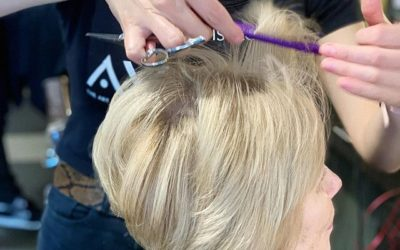Here's one of our stylists perfecting a cut during our Annual Autism Cut-A-Thon! ___________________________#instahair #instabeauty #salon #hair #hairspiration #hairsalon #haircolor #hairstyles #hairstyling #haircut #carlsbad #sandiego #sandiegohair #carlsbadhair #aveda #avedacolor #avedaproducts #avedaartist #smellslikeaveda #crueltyfree #botanicals #knowwhatyouremadeof #avedamission#plazapaseoreal