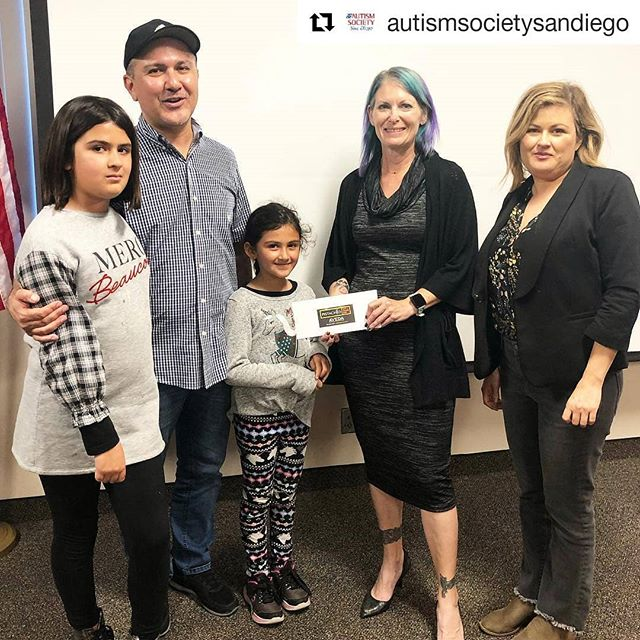 A big thank you to our friends and long time supporters, @pistachiocutandcolorbar – they visited our office to present us with a check from their annual April Autism Awareness Cut-A-Thon! We are so grateful for the support! _______________________#grateful #gratitude #thankful #thankyou #giveback #makeadifference #bethechange #changetheworld #autism #autismawareness #autismawarenessmonth #autismacceptance #accept #accommodate #appreciate #advocate #include #understand #support #respect #love #community #repost @autismsocietysandiego