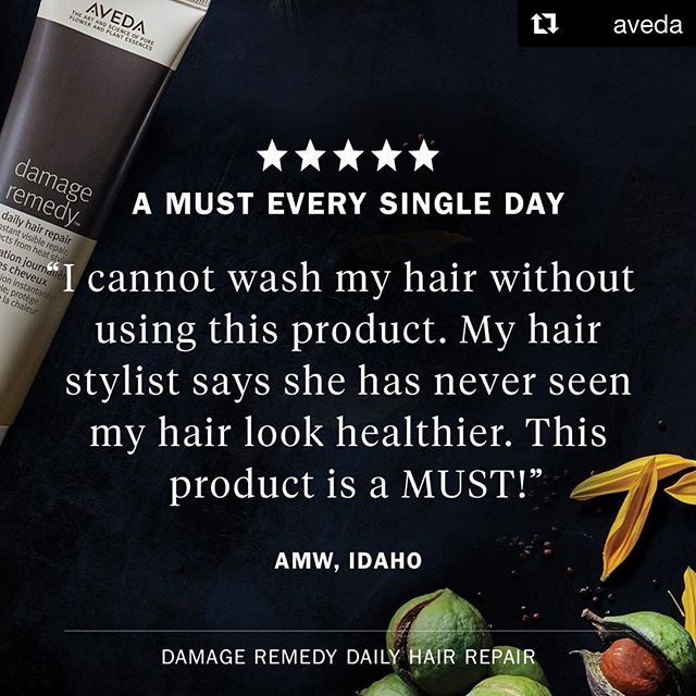 #DamageRemedy Daily Hair Repair is a bestseller for a reason: it works! Use our powerful leave-in treatment to detangle, repair and protect your hair from heat damage and breakage.___________________________#instahair #instabeauty #salon #hair #hairspiration #hairsalon #haircolor #hairstyles #hairstyling #haircut #carlsbad #sandiego #sandiegohair #carlsbadhair #aveda #avedacolor #avedaproducts #avedaartist #smellslikeaveda #crueltyfree #botanicals #knowwhatyouremadeof #avedamission #plazapaseoreal #repost @aveda